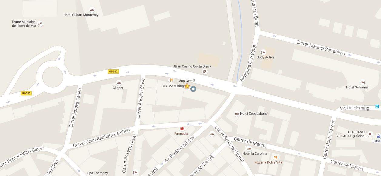 Mapa de ubicación de TramitesDeExtranjería.com